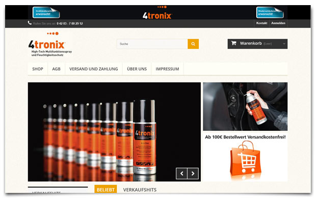 Onlineshop 4tronix.de - made by 47 Company
