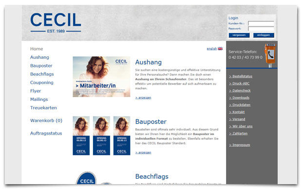 cecil Online-Druckportal - made by 47 Company